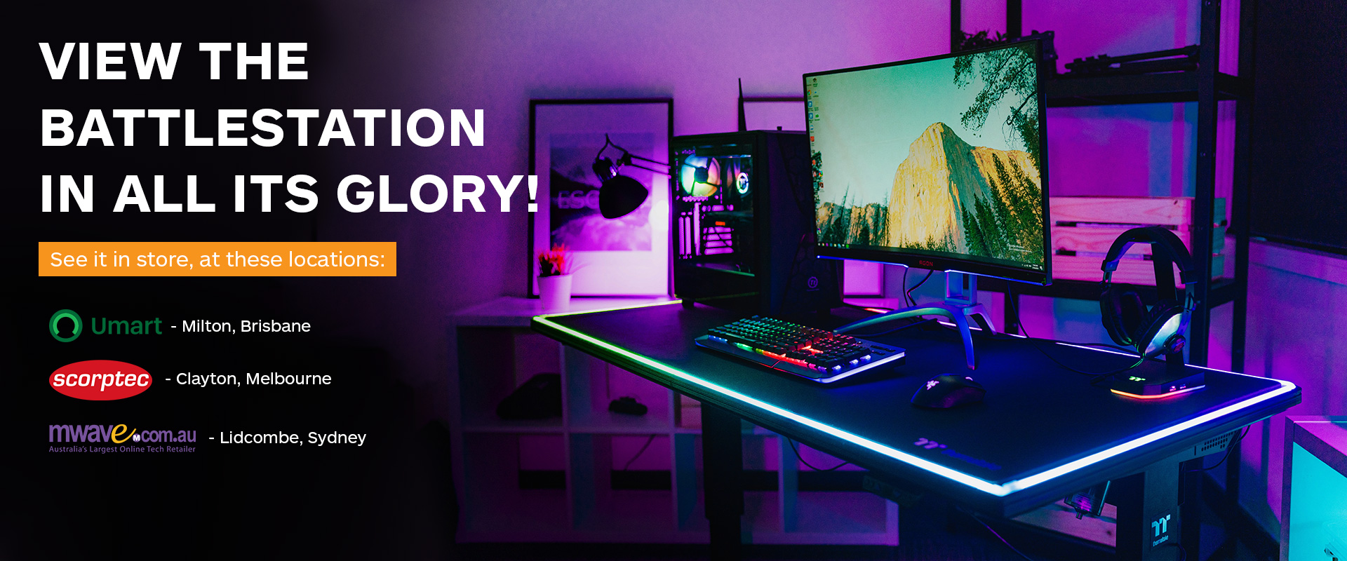 Level 20 Battlestation Rgb Gaming Desk